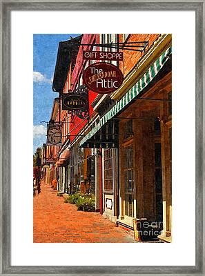 Downtown Lexington Framed Print by Kathy Jennings