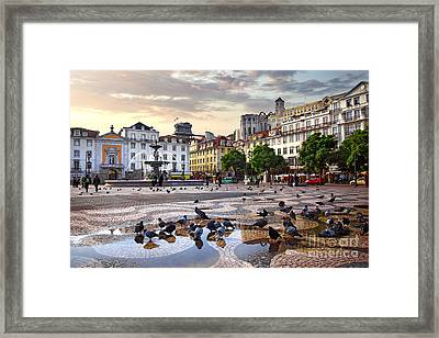 Downtown Lisbon Framed Print by Carlos Caetano