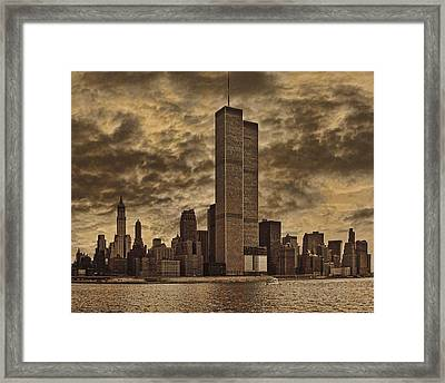 Downtown Manhattan Circa Nineteen Seventy Nine  Framed Print
