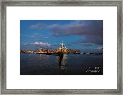 Downtown Manhattan Framed Print