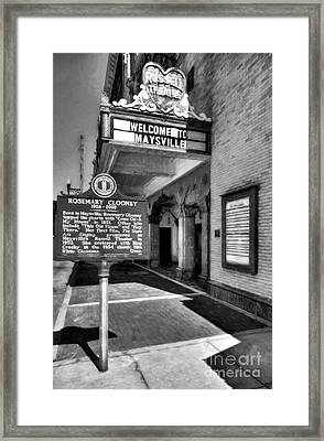 Downtown Maysville Kentucky Black And White Framed Print by Mel Steinhauer