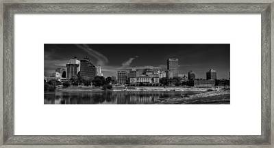 Downtown Memphis Skyline 002 Bw Framed Print by Lance Vaughn