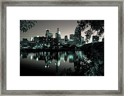 Downtown Minneapolis At Night II Framed Print