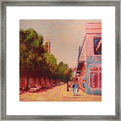 Downtown Mobile On Dauphin By Cathedral Park Framed Print
