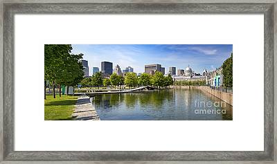 Downtown Montreal In Summer Framed Print by Jane Rix