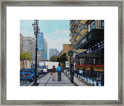 Downtown Montreal Framed Print by Reb Frost