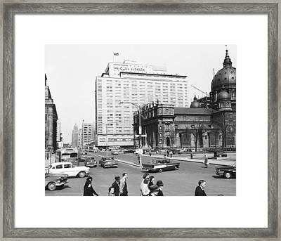 Downtown Montreal Framed Print by Underwood Archives