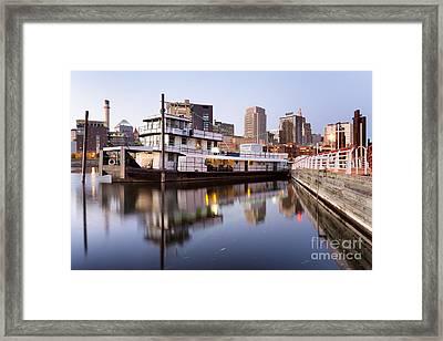 Downtown Mooring Framed Print