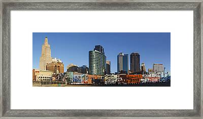 Downtown Mural Framed Print by Dennis Hedberg