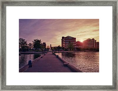 Framed Print featuring the photograph Downtown Neenah Sunset by Joel Witmeyer