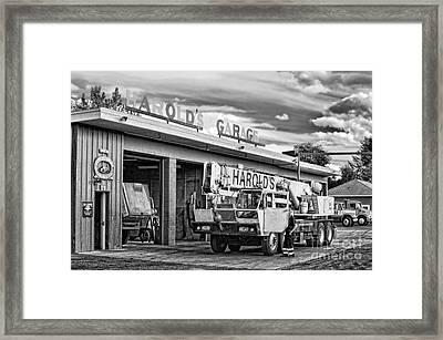 Downtown Northampton - Harold's Garage Framed Print