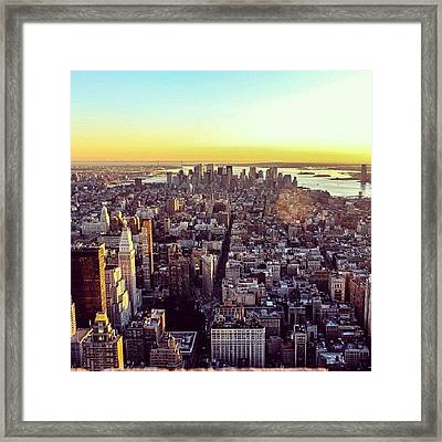 Downtown Or Lower Manhattan Framed Print