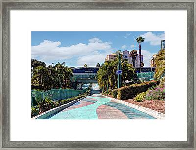 Downtown Oceanside Framed Print by Ann Patterson