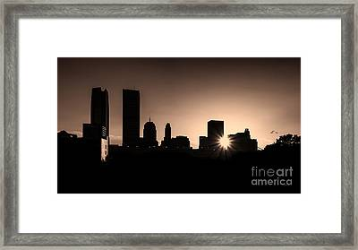 Framed Print featuring the photograph Downtown Oklahoma City by Betty LaRue