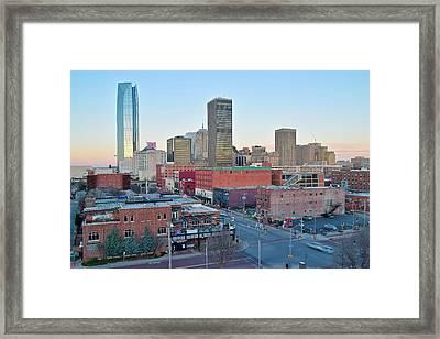 Downtown Oklahoma City  Framed Print