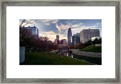 Downtown Omaha Framed Print