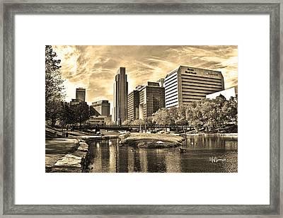 Downtown Omaha Nebraska Framed Print