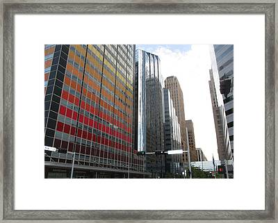 Downtown On Sunday Framed Print