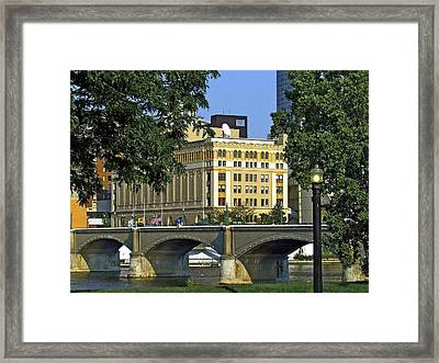 Downtown On The River Framed Print
