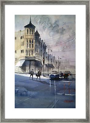 Downtown Oshkosh2 Framed Print by Ryan Radke