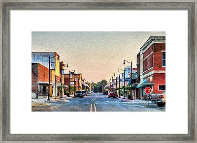 Downtown Paragould Framed Print by JC Findley