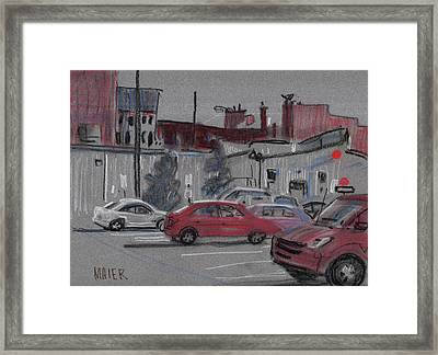 Downtown Parking Framed Print by Donald Maier