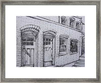 Downtown Phoenix Building Framed Print by Aleksandra Buha