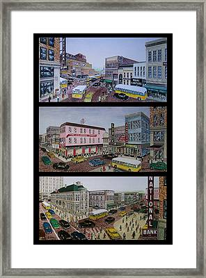 Downtown Portsmouth 1948 Framed Print by Frank Hunter