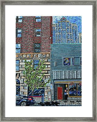 Downtown Raleigh - West Martin Street Framed Print by Micah Mullen