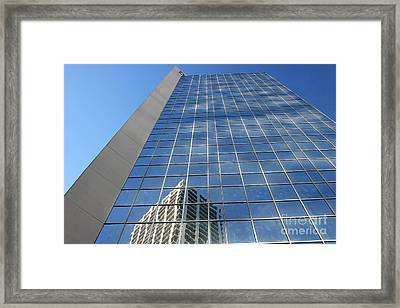 Framed Print featuring the photograph Downtown Reflection by Wilko Van de Kamp