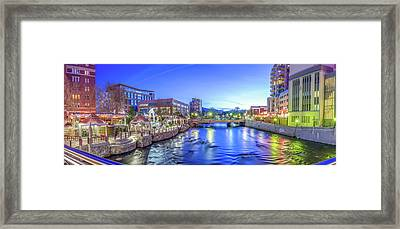 Downtown Reno Summer Twilight Framed Print