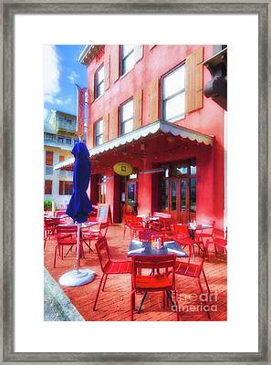 Downtown Rosemary Beach # 3 Framed Print by Mel Steinhauer