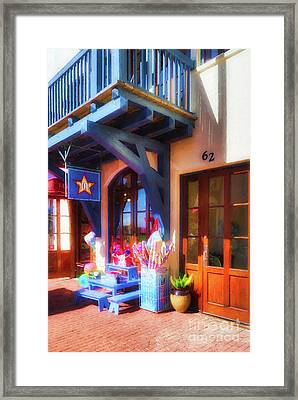 Downtown Rosemary Beach # 6 Framed Print by Mel Steinhauer