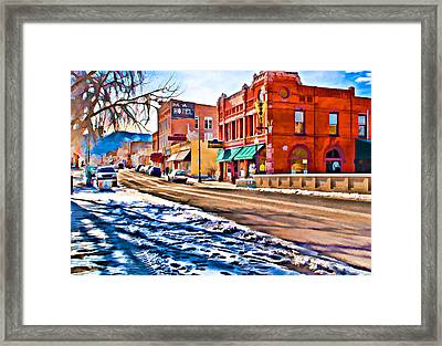 Downtown Salida Hotels Framed Print