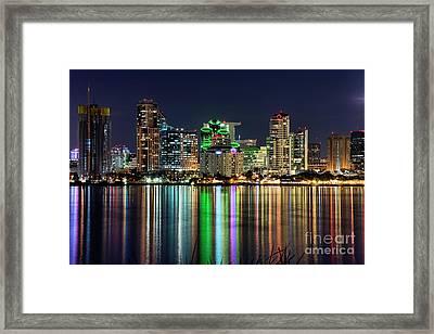 Downtown San Diego Framed Print by Eddie Yerkish