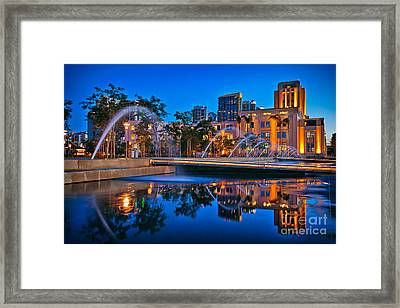 Downtown San Diego Waterfront Park Framed Print