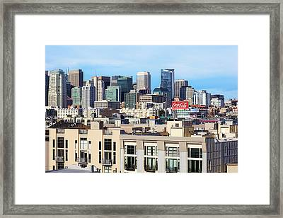 Downtown San Francisco Framed Print by Kelley King