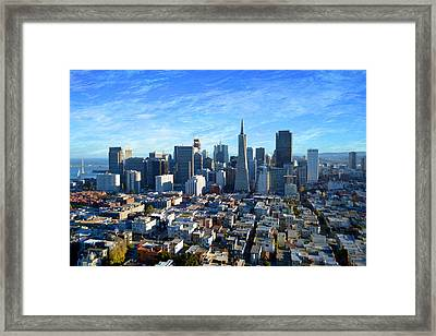 Downtown San Fransisco Framed Print by Glenn McCarthy Art and Photography
