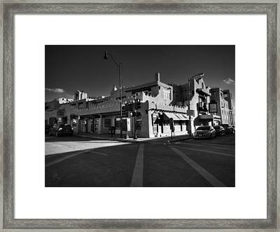 Downtown Santa Fe 001 Bw Framed Print by Lance Vaughn