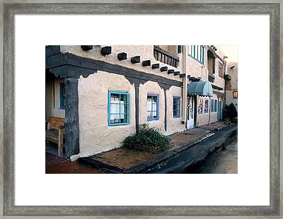 Downtown Santa Fe Framed Print