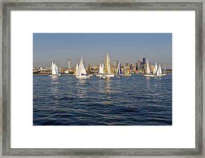 Downtown Seattle Framed Print by Tom Dowd