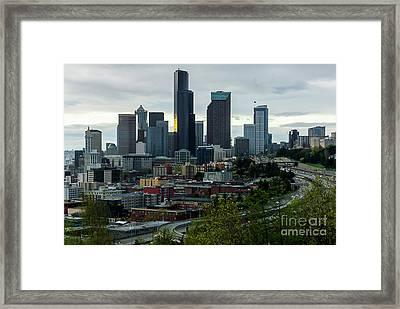 Downtown Seattle,washington Framed Print