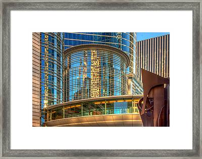 Downtown Shapes Framed Print