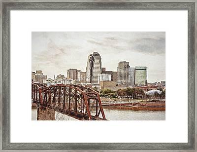Downtown Shreveport - Digital Painting Framed Print
