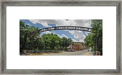 Downtown Silver City Framed Print by Allen Sheffield