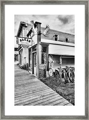 Downtown Skagway 3 Bw Framed Print by Mel Steinhauer