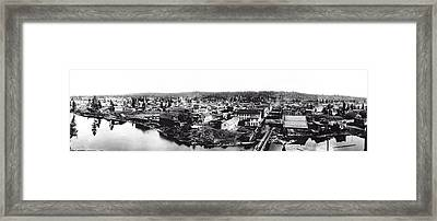Downtown Spokane Falls 1886 Framed Print