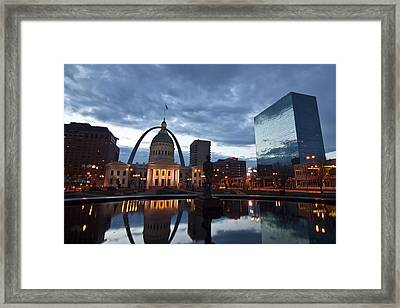 Downtown St. Louis At Dawn Framed Print
