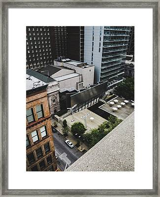 Downtown St. Louis From A Rooftop Framed Print by Dylan Murphy