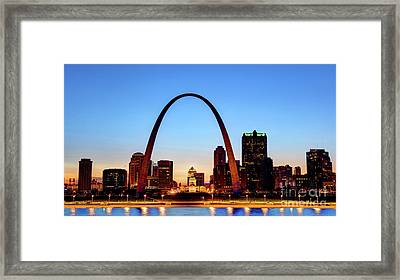 Downtown St Louis, Missouri Skyline Framed Print by Denis Tangney Jr